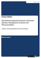 Identitätsmanagementsysteme (Scholarly Identity...