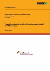 Vergleich von Leasing- und Kreditfinanzierung a...