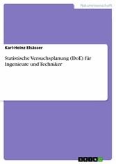 Statistische Versuchsplanung (DoE) für Ingenieu...