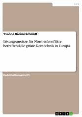 Lösungsansätze für Normenkonflikte betreffend d...