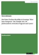 Der Vater-Tochter-Konflikt in Lessings Miss Sar...