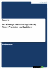 Das Konzept eXtreme Programming. Werte, Prinzip...