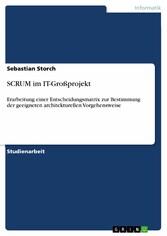 SCRUM im IT-Großprojekt - Erarbeitung einer Ent...