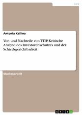 Vor- und Nachteile von TTIP. Kritische Analyse ...