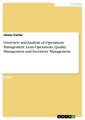 Overview and Analysis of Operations Management....