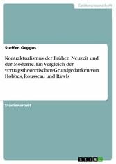 Kontraktualismus der Frühen Neuzeit und der Mod...