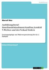 Ausbildungsberuf: Einzelhandelskaufmann/-kauffr...