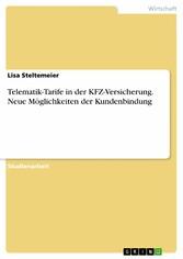 Telematik-Tarife in der KFZ-Versicherung. Neue ...