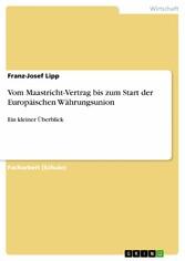 Vom Maastricht-Vertrag bis zum Start der Europä...