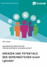 Grenzen und Potenziale der gemeinnützigen GmbH ...