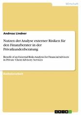 Nutzen der Analyse externer Risiken für den Fin...