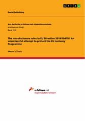 The non-disclosure rules in EU Directive 2014/1...