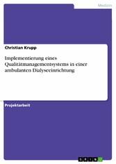 Implementierung eines Qualitätmanagementsystems...