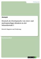 Deutsch als Zweitsprache von zwei- und mehrspra...