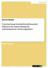 Untersuchung bonitätsbeeinflussender Faktoren b...