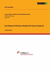 Due Diligence Prüfung am Beispiel der Thyssen K...