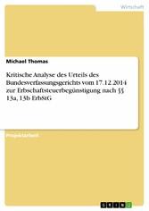 Kritische Analyse des Urteils des Bundesverfass...