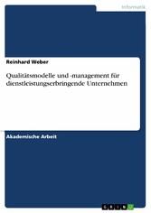 Qualitätsmodelle und -management für dienstleis...