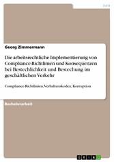 Die arbeitsrechtliche Implementierung von Compl...