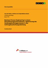 Business Process Engineering in einem Dienstlei...
