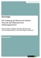 Die Ordnung des Wissens bei Michel Foucault. Ei...