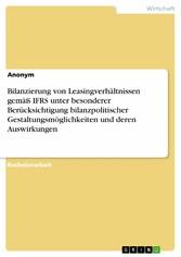 Bilanzierung von Leasingverhältnissen gemäß IFR...