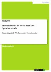 Markennamen als Phänomen des Sprachwandels - Ma...