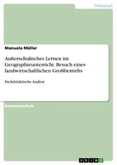 Außerschulisches Lernen im Geographieunterricht...