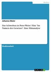 Das Schweben in Peter Weiss Film Im Namen des G...