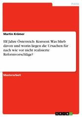 Elf Jahre Österreich- Konvent. Was blieb davon ...
