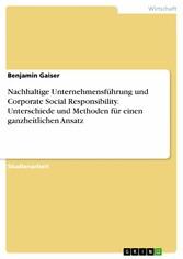 Nachhaltige Unternehmensführung und Corporate S...