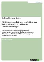 Die Zusammenarbeit von Lehrkräften und Sonderpä...