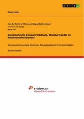 Geographische Konsumforschung. Strukturwandel i...