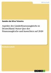Aspekte des Länderfinanzausgleichs in Deutschla...