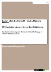 EU-Mediationskonzepte zur Konfliktlösung - Das ...