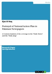 Portrayal of National Action Plan in Pakistani ...