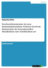 Facebook-Kommentare als neue Kommunikationsform...