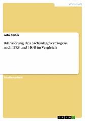 Bilanzierung des Sachanlagevermögens nach IFRS ...