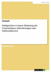 Erfolgreiches Content Marketing für Unternehmen...