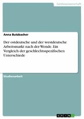 Der ostdeutsche und der westdeutsche Arbeitsmar...