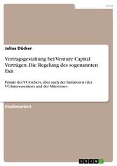 Vertragsgestaltung bei Venture Capital Verträge...