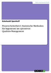 Prozess-Sicherheit I. Statistische Methoden für...