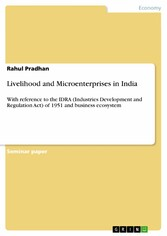 Livelihood and Microenterprises in India - With...