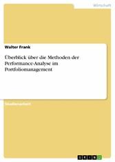 Überblick über die Methoden der Performance-Ana...
