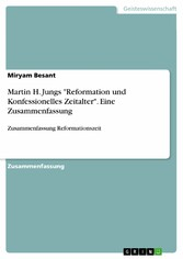 Martin H. Jungs Reformation und Konfessionelles...