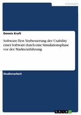 Software-Test. Verbesserung der Usability einer...