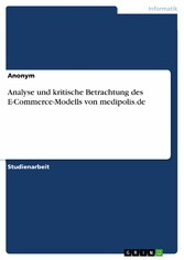 Analyse und kritische Betrachtung des E-Commerc...