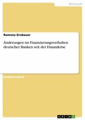 Änderungen im Finanzierungsverhalten deutscher ...
