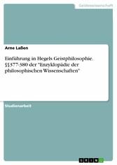 Einführung in Hegels Geistphilosophie. §§377-38...