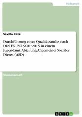 Durchführung eines Qualitätsaudits nach DIN EN ...